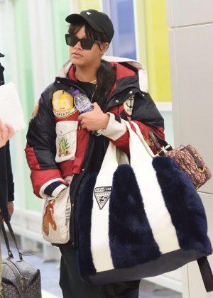 Rihanna at JFK Airport in New York City