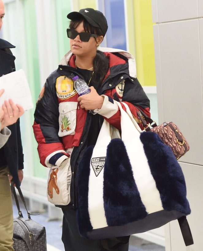 Rihanna at JFK Airport in New York City