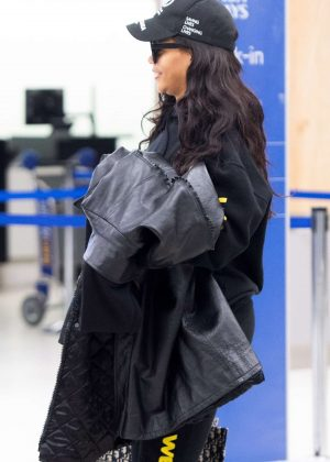 Rihanna at JFK Airport in NYC