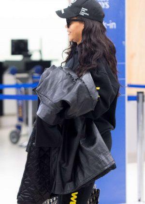 Rihanna at JFK Airport in NYC
