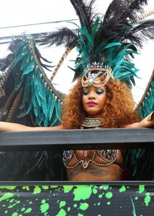 Rihanna at Kadooment Day -01
