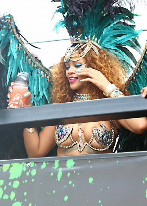 Rihanna at Kadooment Day -02
