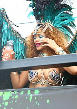Rihanna at Kadooment Day -03