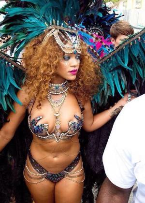 Rihanna at Kadooment Day -04
