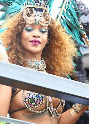 Rihanna at Kadooment Day -07