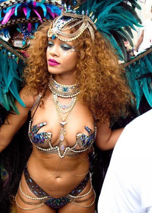 Rihanna at Kadooment Day in Barbados