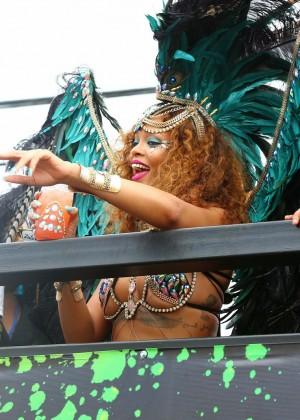 Rihanna at Kadooment Day -09