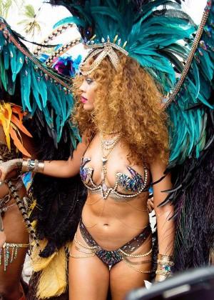 Rihanna at Kadooment Day -11