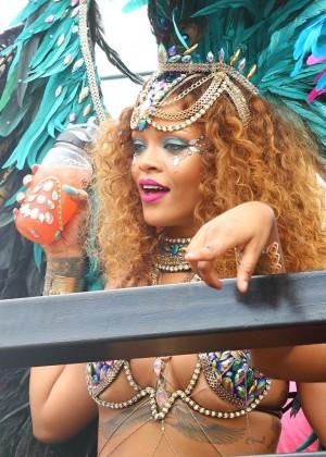 Rihanna at Kadooment Day -12