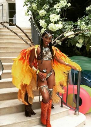 Rihanna at Kadooment Day -13