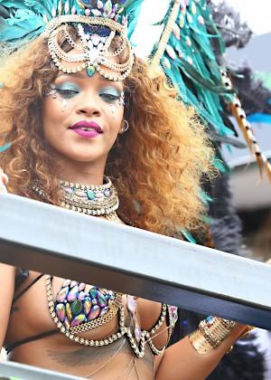 Rihanna at Kadooment Day -14