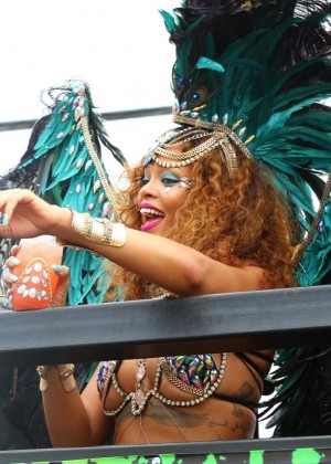 Rihanna at Kadooment Day -15