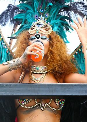 Rihanna at Kadooment Day -16