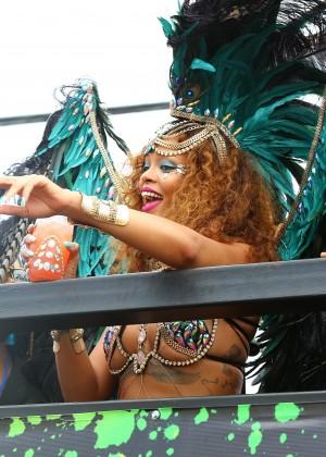 Rihanna at Kadooment Day -17