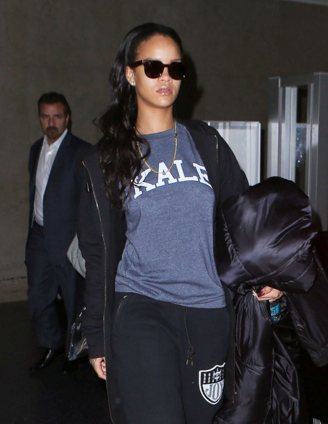 Rihanna at LAX airport in LA