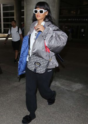 Rihanna at LAX Airport in Los Angeles