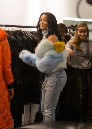 Rihanna at Montaigne Market in Paris