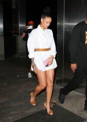Rihanna at Nobu Restaurant in NYC