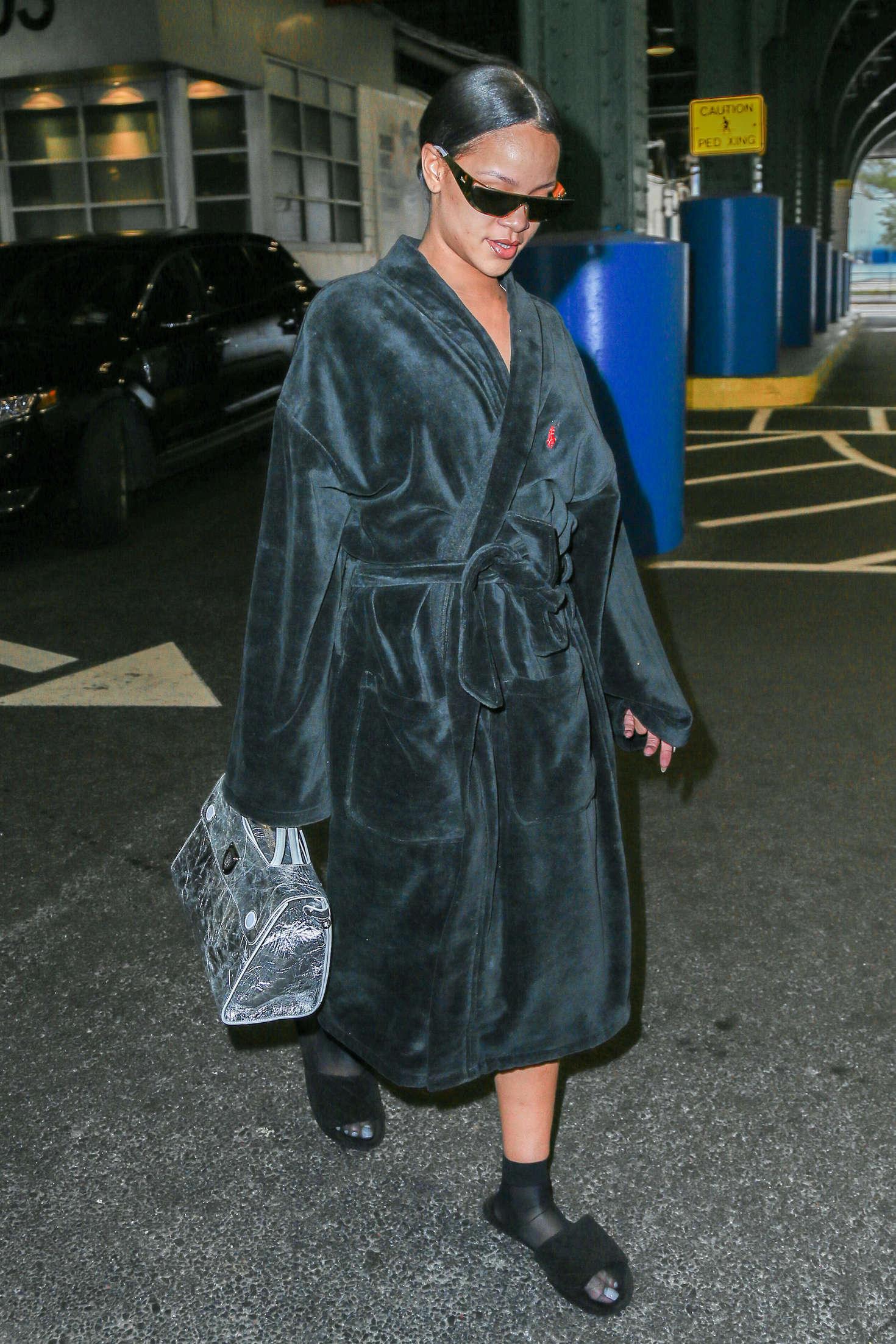 Rihanna at Pier 59 Studios in New York