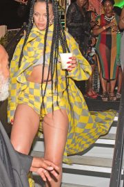 Rihanna at Reggae star Buju Banton concert in Barbados