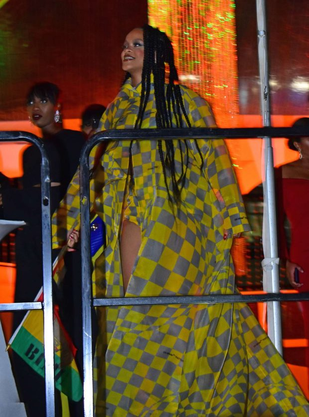 Rihanna at Reggae star Buju Banton concert -15