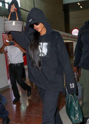 Rihanna at Rossy-Charles-de-Gaulle Airport in Paris