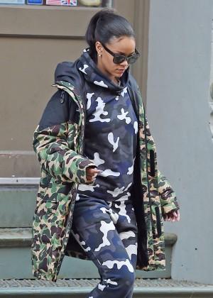 Rihanna at the Hanson Fitness in NYC