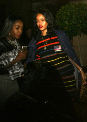 Rihanna at the Montage Hotel in Beverly Hills