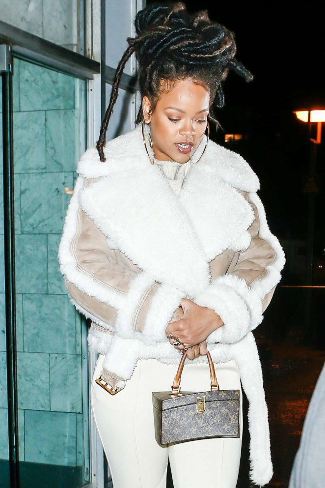 Rihanna at The Spotted Pig in Manhattan