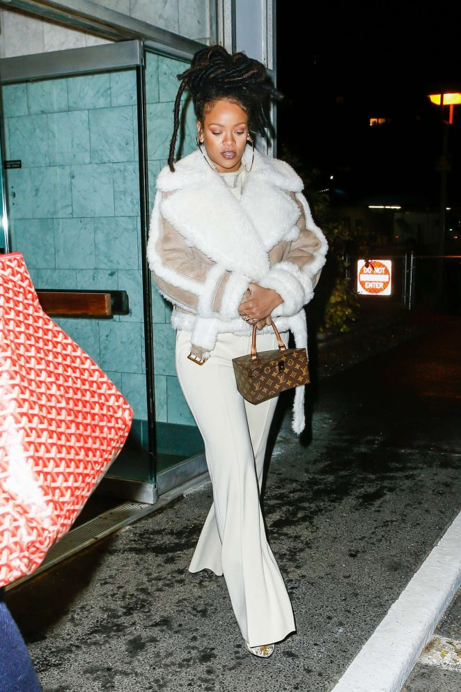Rihanna at The Spotted Pig in Manhattan -32