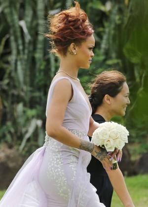 Rihanna - Attending a friend's wedding in Hawaii