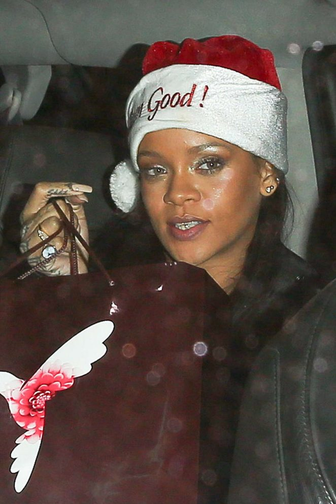 Rihanna - Christmas party at The Nice Guy in West Hollywood