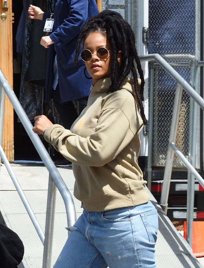 Rihanna heading to the set of 'Ocean's 8' in New York City