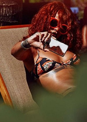 Rihanna in Bikini on Vacation in Hawaii
