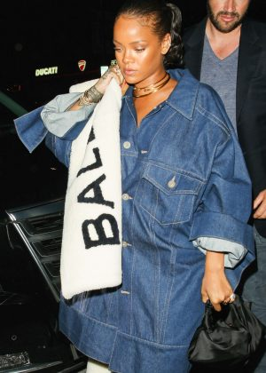 Rihanna in jeans out in West Hollywood