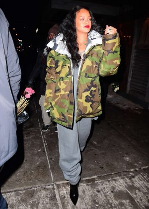 Rihanna in Jumpsuit out in NYC