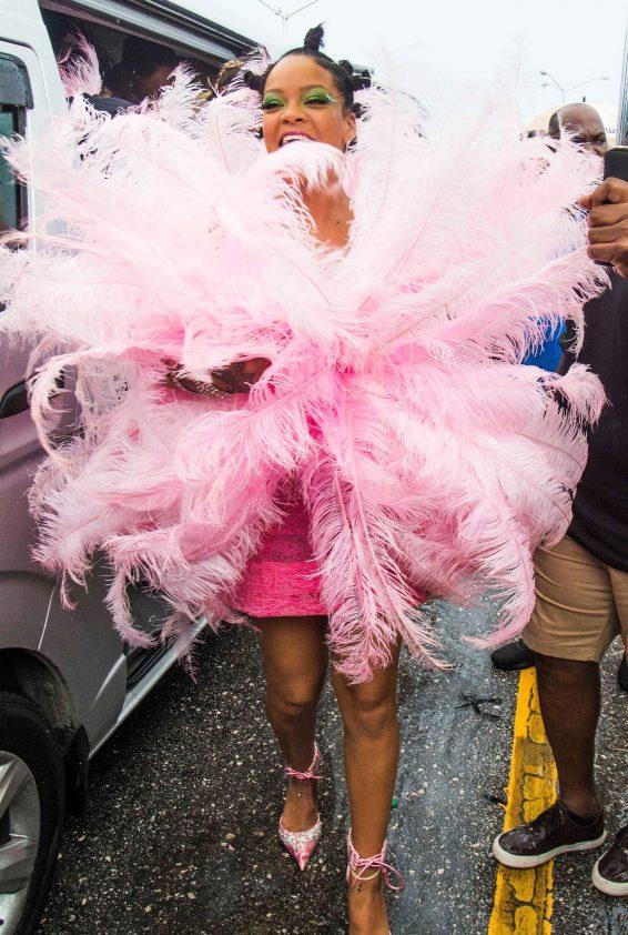 Rihanna 2019 : Rihanna in Pink at Kadooment Day Parade-02