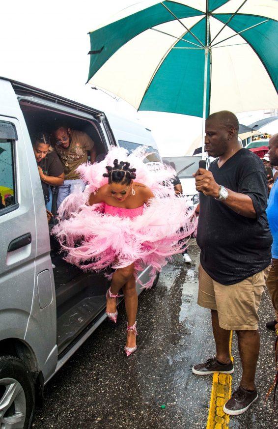 Rihanna 2019 : Rihanna in Pink at Kadooment Day Parade-03
