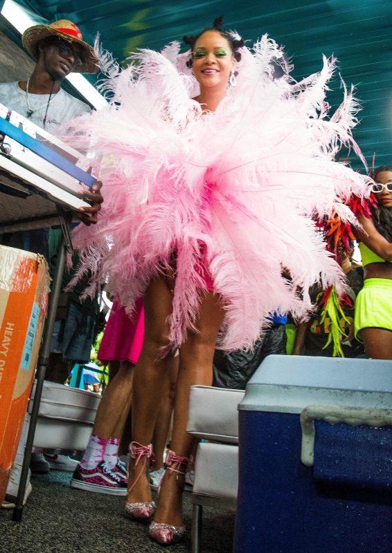 Rihanna 2019 : Rihanna in Pink at Kadooment Day Parade-17