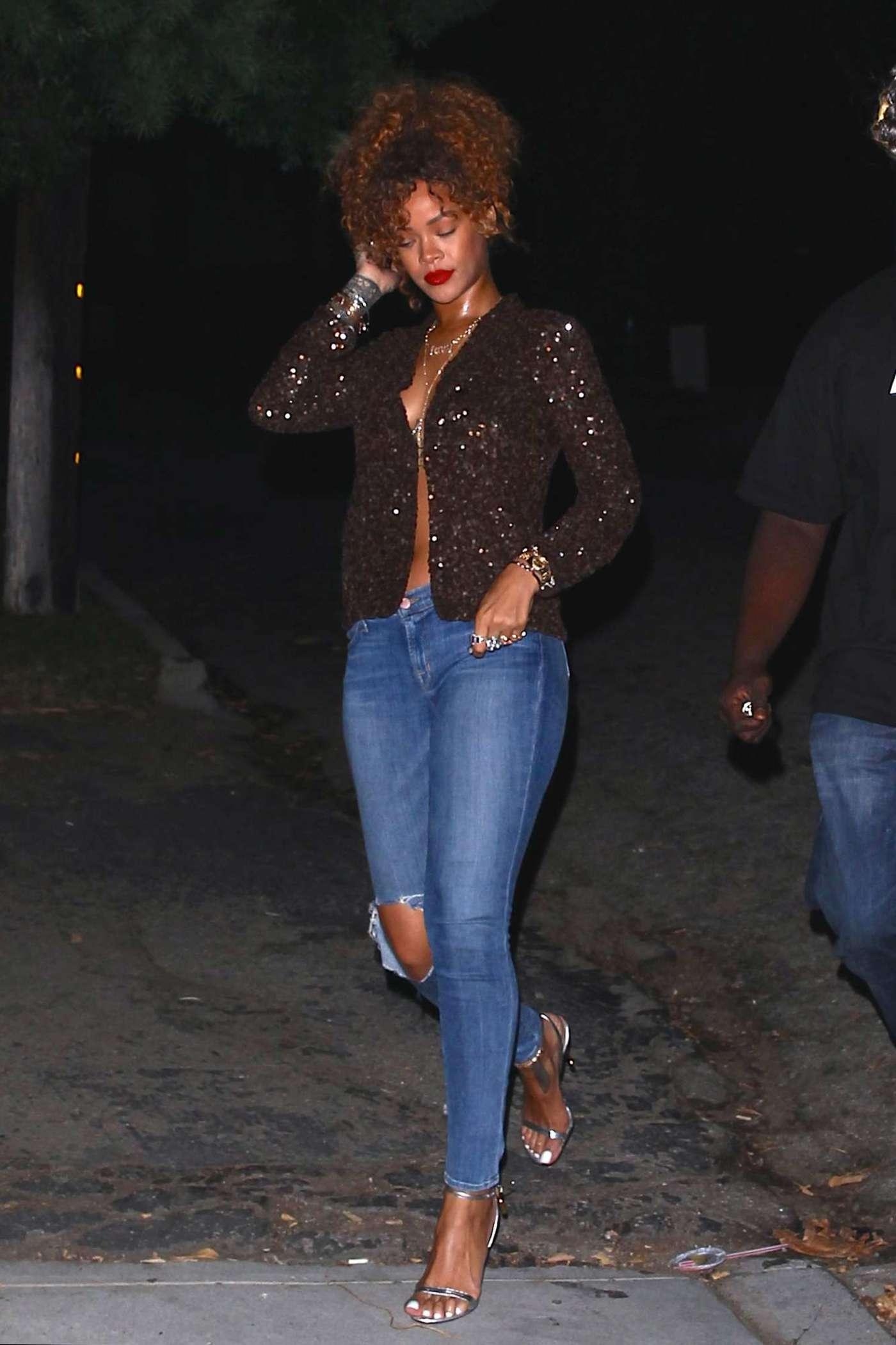 Rihanna in Ripped Jeans -01 - GotCeleb