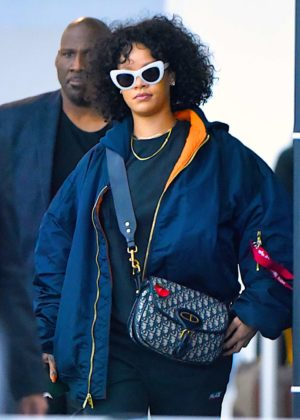 Rihanna - JFK Airport in New York City