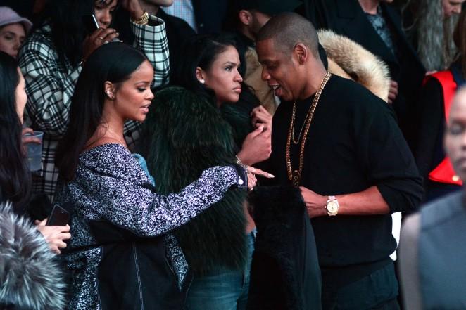 Rihanna Kanye West 2015 Fashion Show 23 Gotceleb