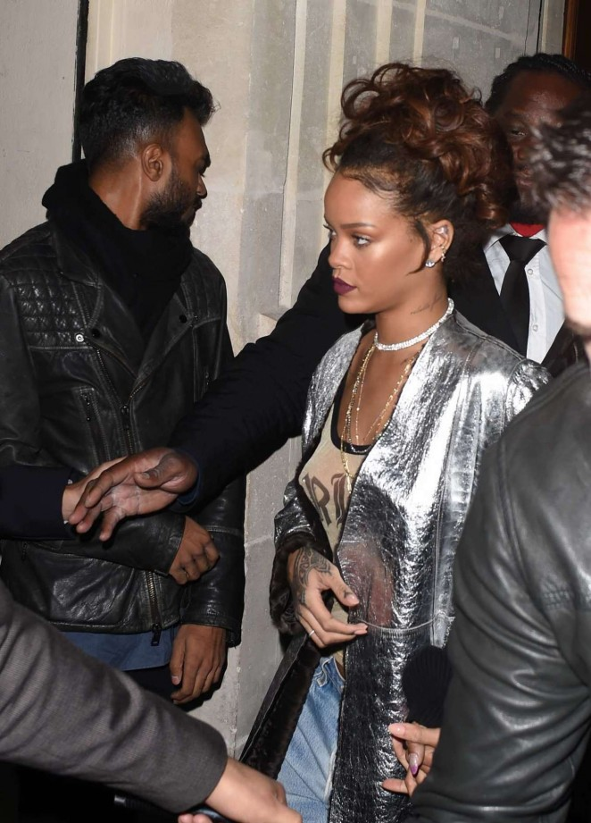 Rihanna - Le Six Seven Nightclub in Paris