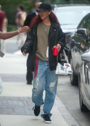 Rihanna - Leaves the Edison Hotel in New York