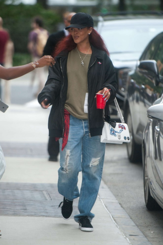 Rihanna - Leaves the Edison Hotel in New York