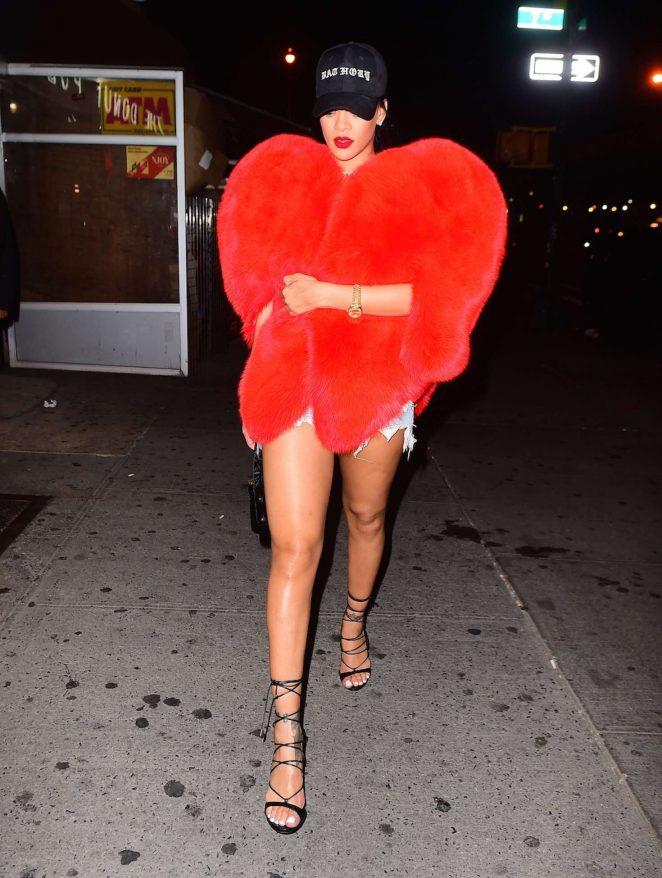 Rihanna Leaving 1Oak in NYC