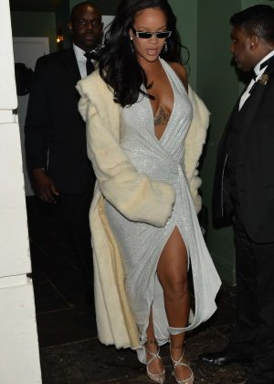 Rihanna - Leaving Annabell's club in Mayfair