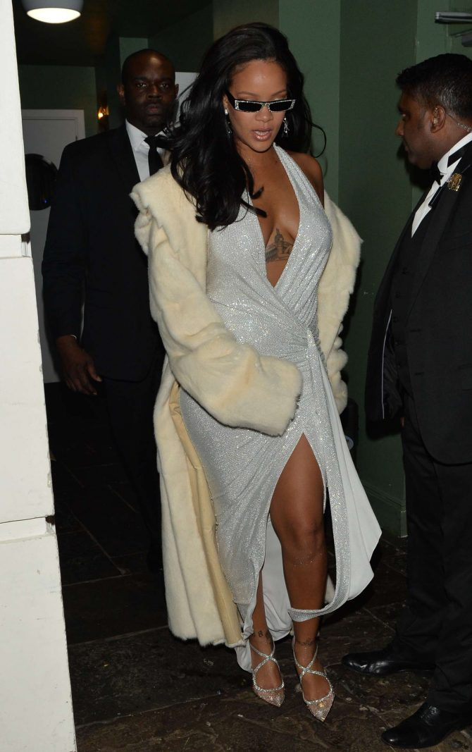Rihanna - Leaving Annabell's club in Mayfair