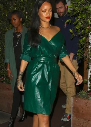 Rihanna Leaving dinner at Giorgio Baldi in Santa Monica