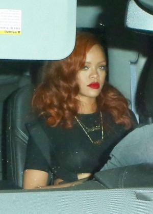 Rihanna - Leaving Giorgio Baldi in Santa Monica